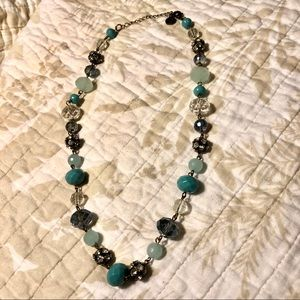 Liz Claiborne blue beaded necklace